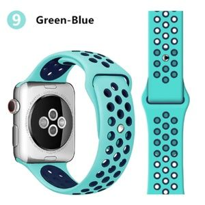 NEW[BAND] GreenBlue Sport Silicone For Apple Watch